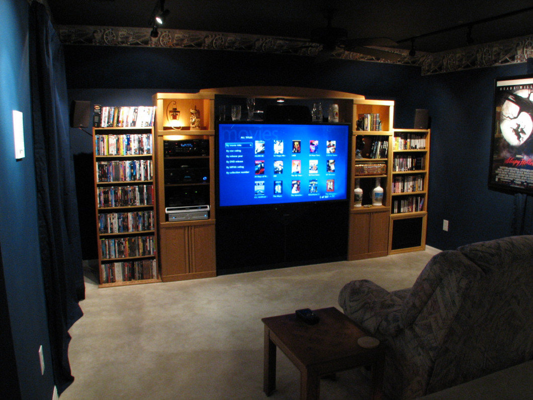 Installation services orchard park buffalo clarence for Wallpaper home theater